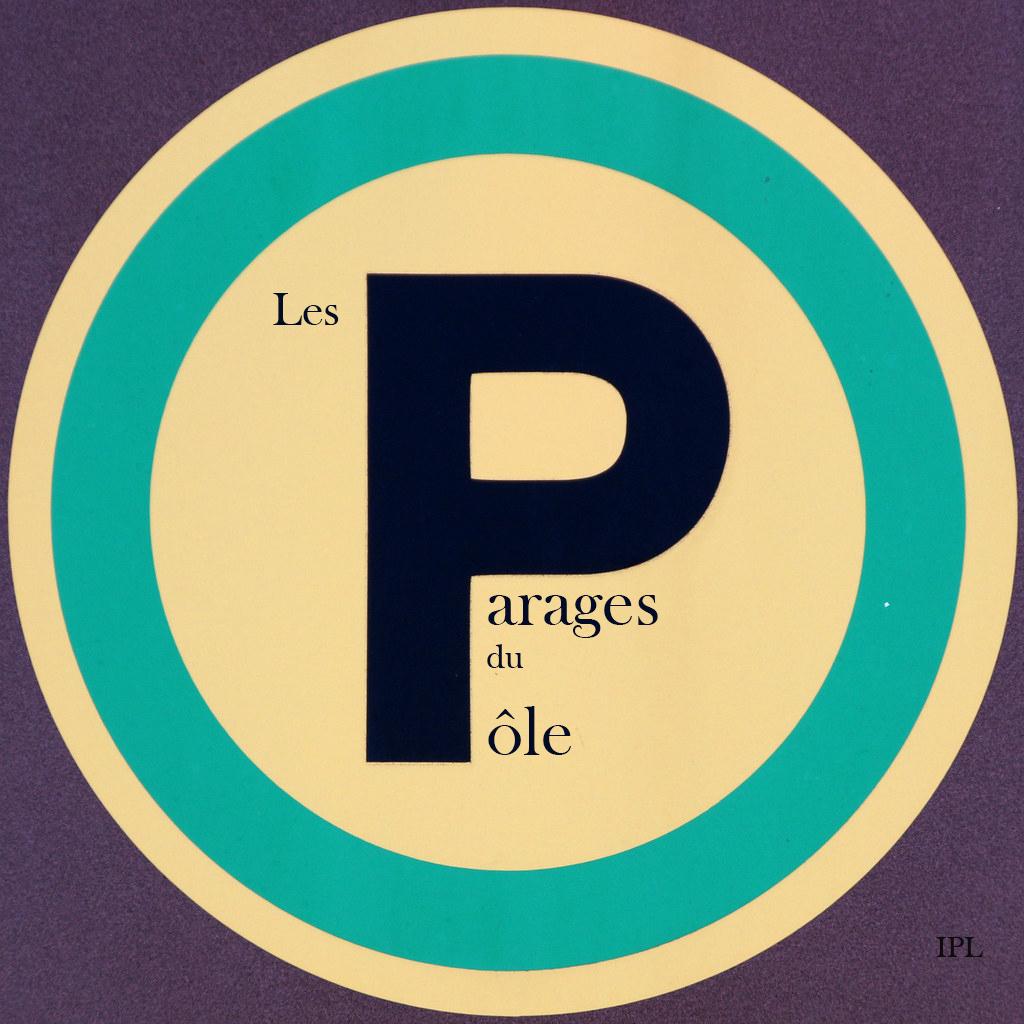 Logo panneau rond vert parages du pole